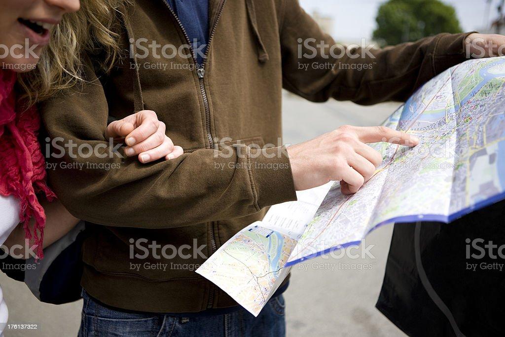 Reading map royalty-free stock photo