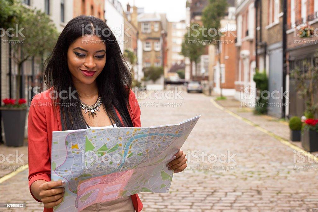 reading map stock photo