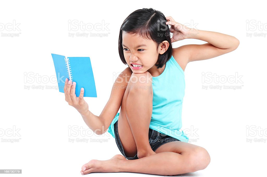 Reading My Book royalty-free stock photo