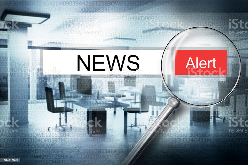 reading news browser search security alert 3D Illustration stock photo