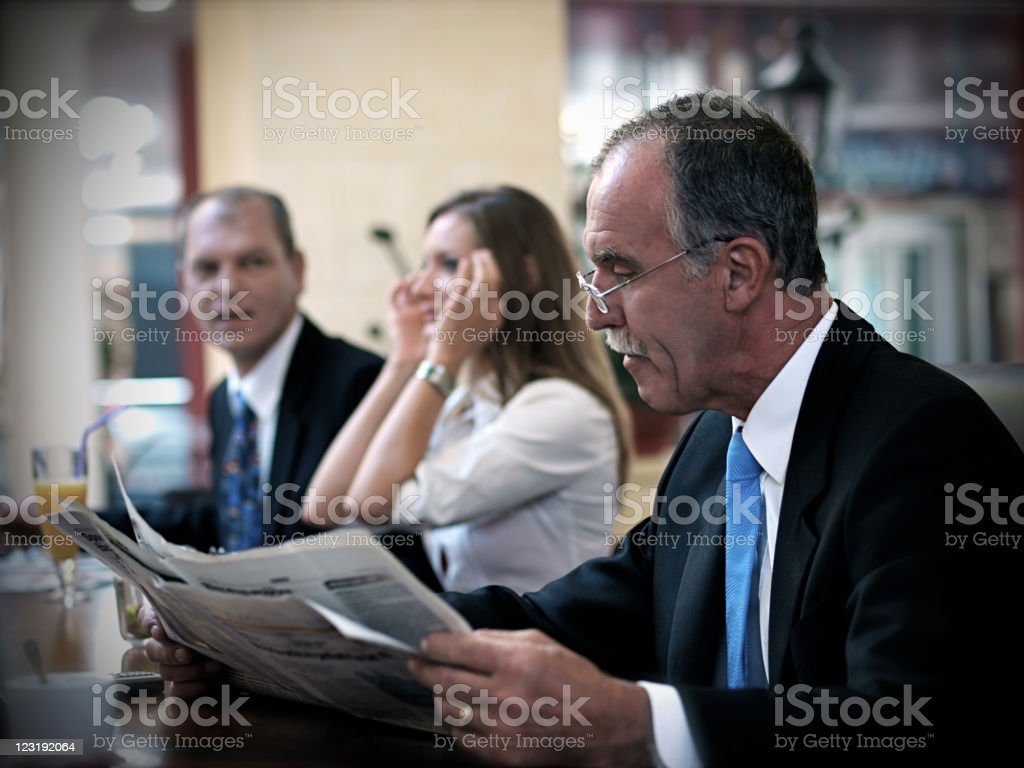 Reading News royalty-free stock photo