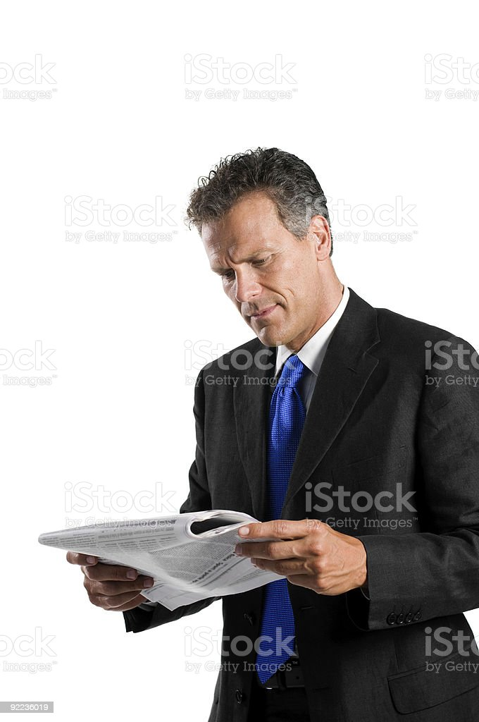 Reading news royalty-free stock photo