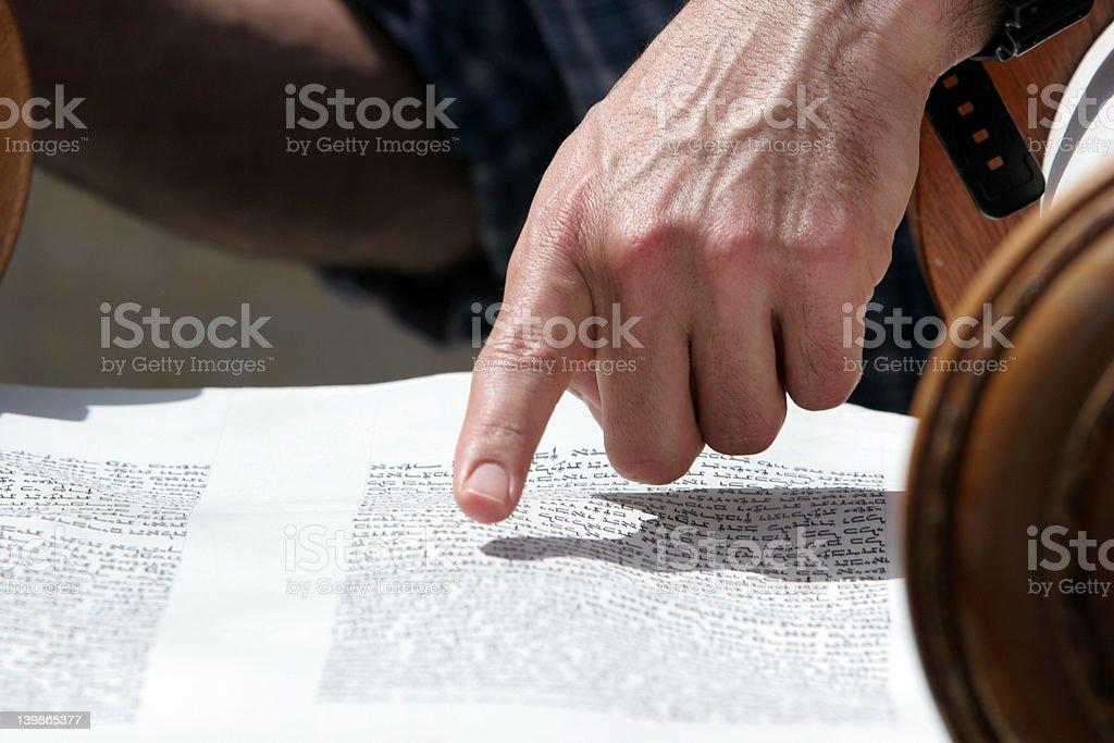 Reading of the Thora stock photo