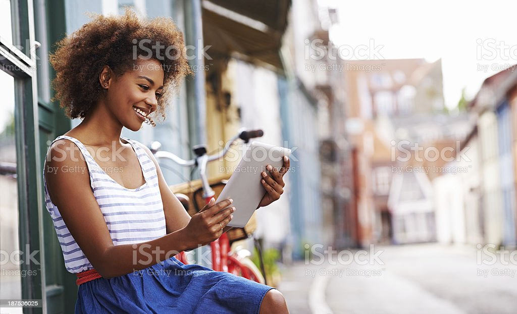 Reading on a quiet summer's day stock photo