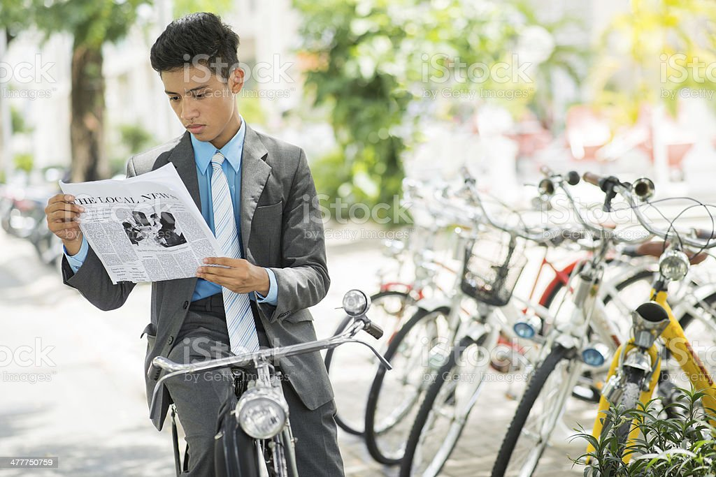Reading on wheels royalty-free stock photo