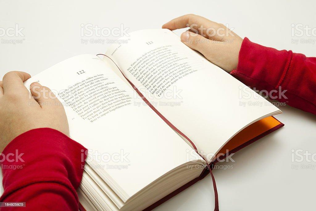 Reading poetry stock photo