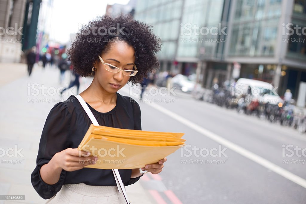 reading post royalty-free stock photo