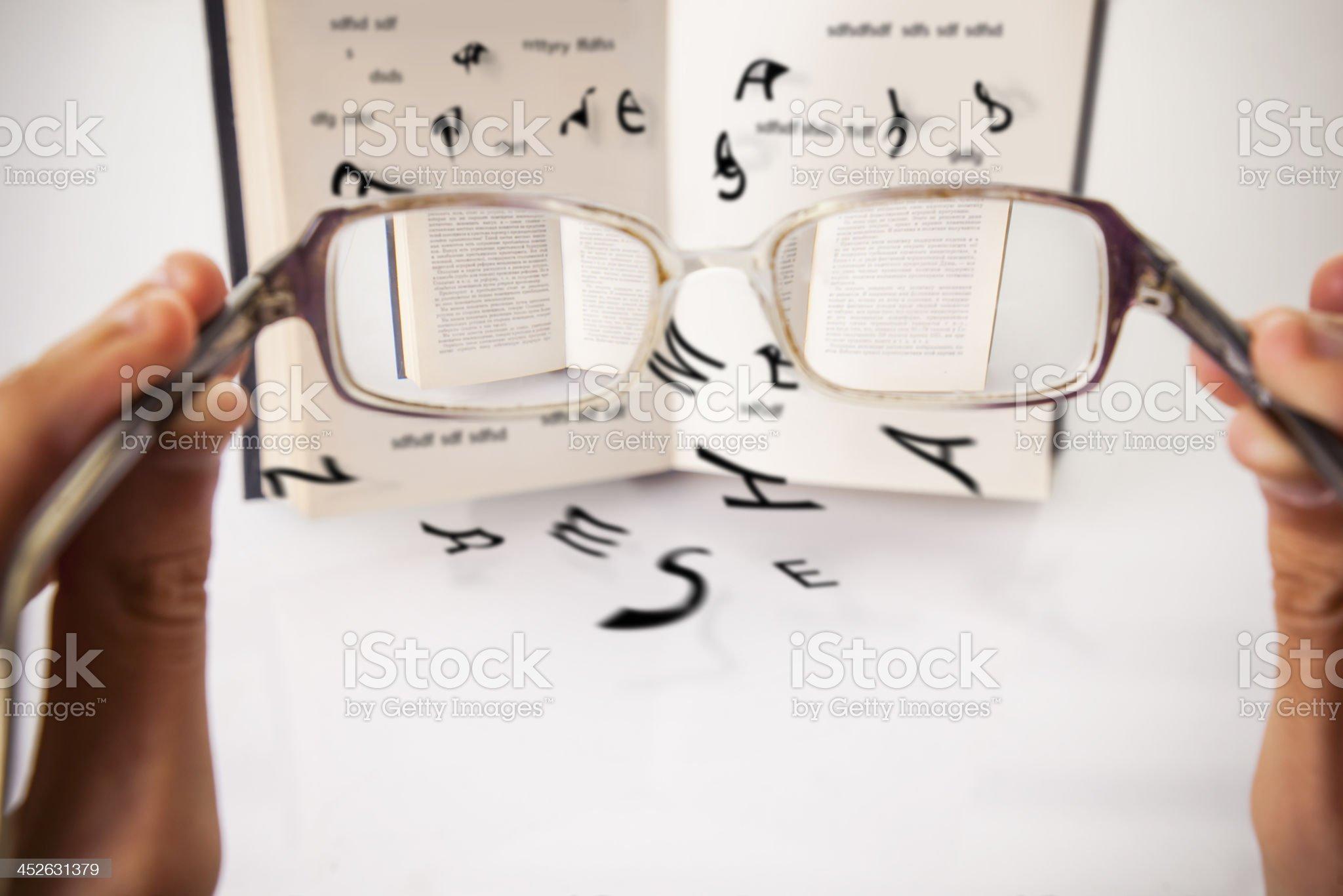 Reading problem royalty-free stock photo