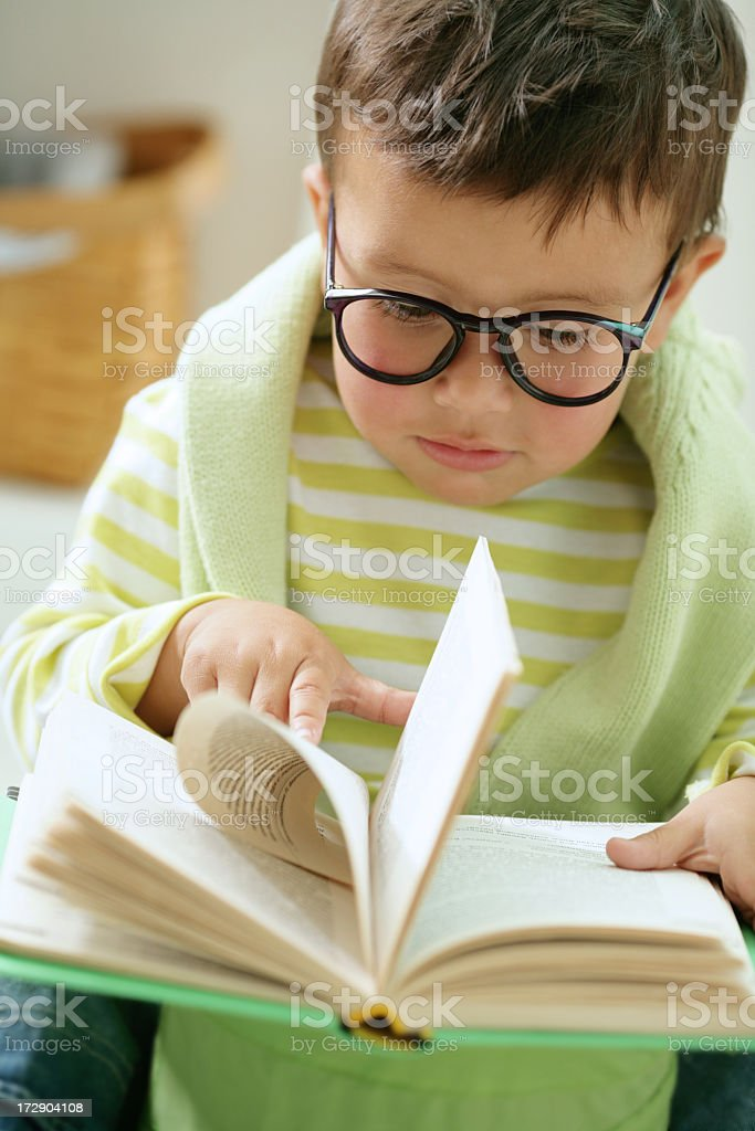 reading schoolboy royalty-free stock photo