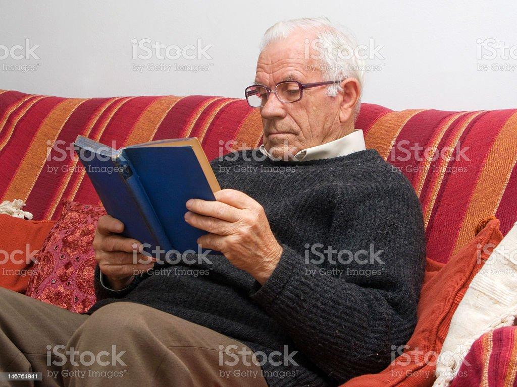 Reading Senior stock photo