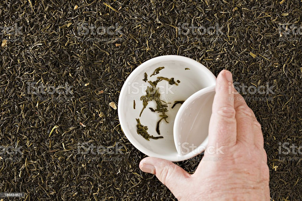 Reading Tea Leaves stock photo