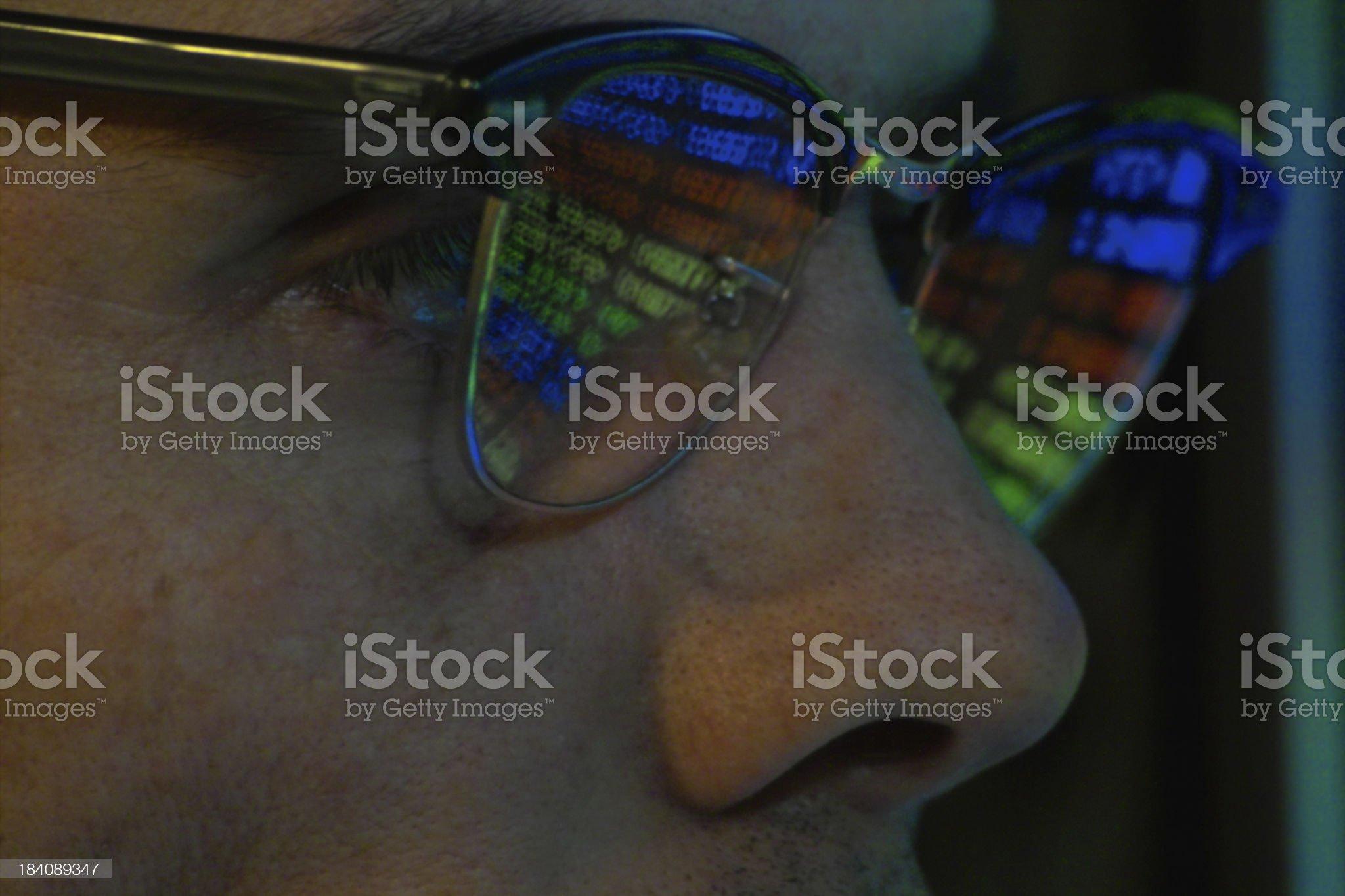 Reading The Data royalty-free stock photo