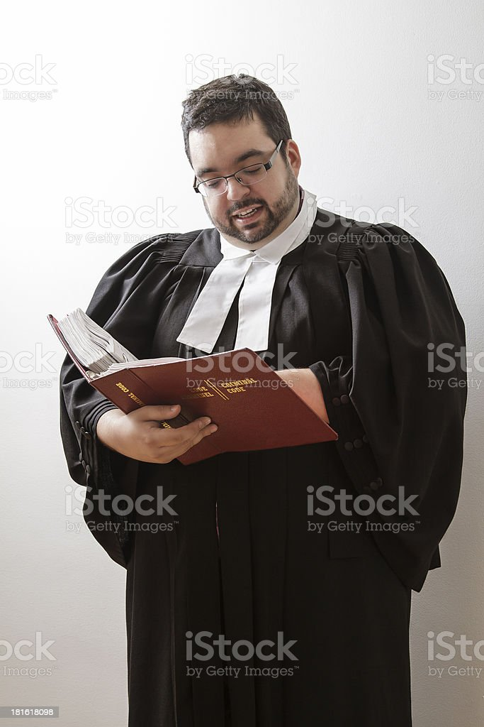 Reading the law royalty-free stock photo