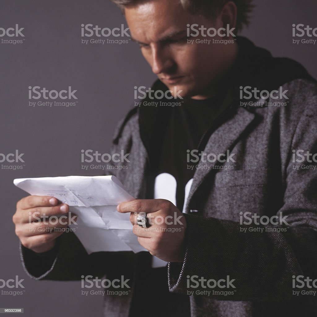 Reading the letter royalty-free stock photo