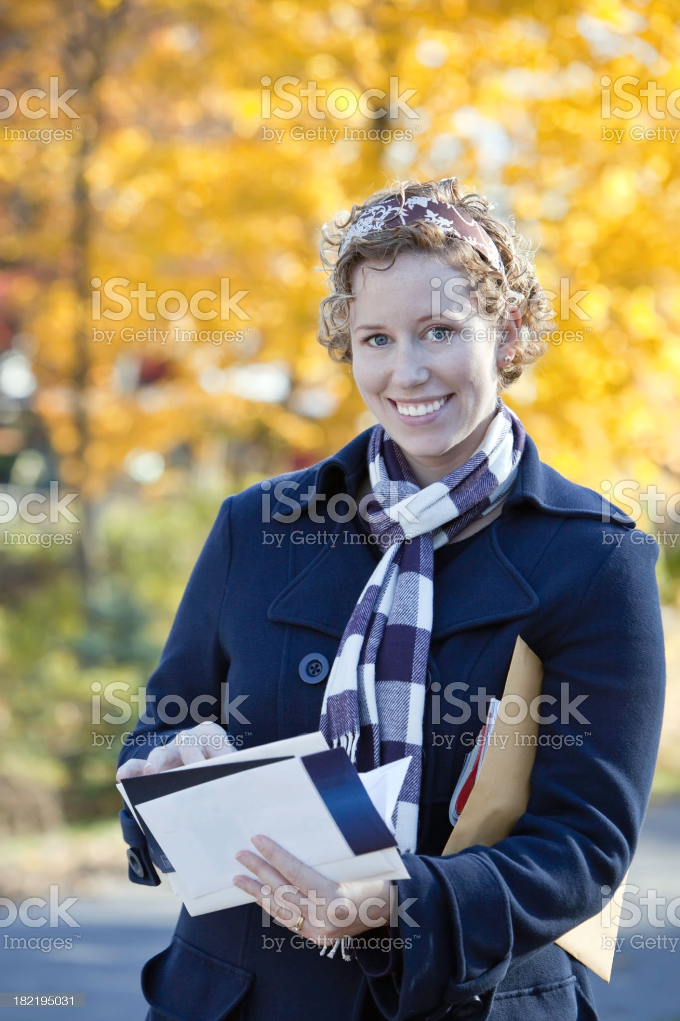 Reading the Mail royalty-free stock photo