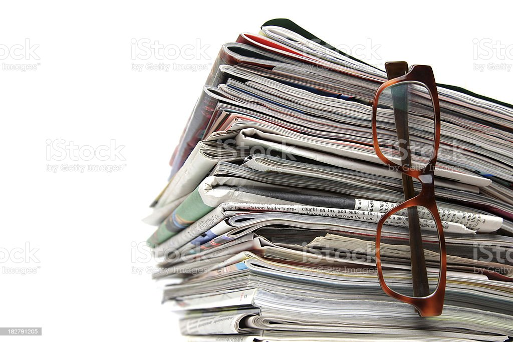 Reading the news royalty-free stock photo
