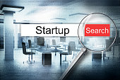 reading the word startup browser search alert 3D Illustration