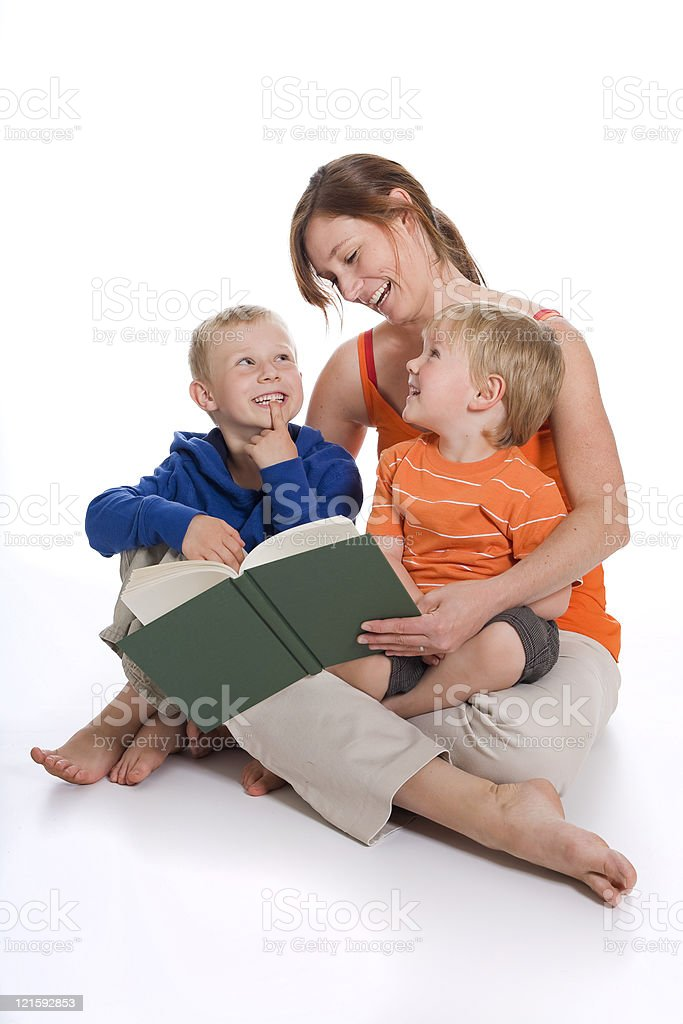 Reading time royalty-free stock photo