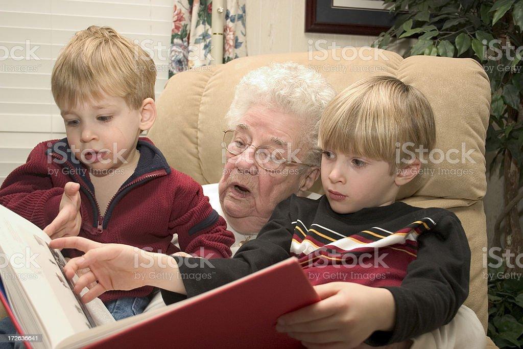 Reading to My Boys royalty-free stock photo
