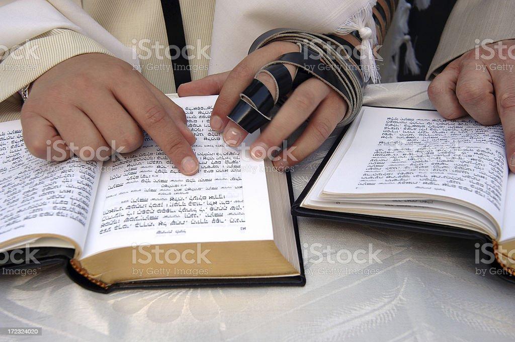 Reading Torah royalty-free stock photo