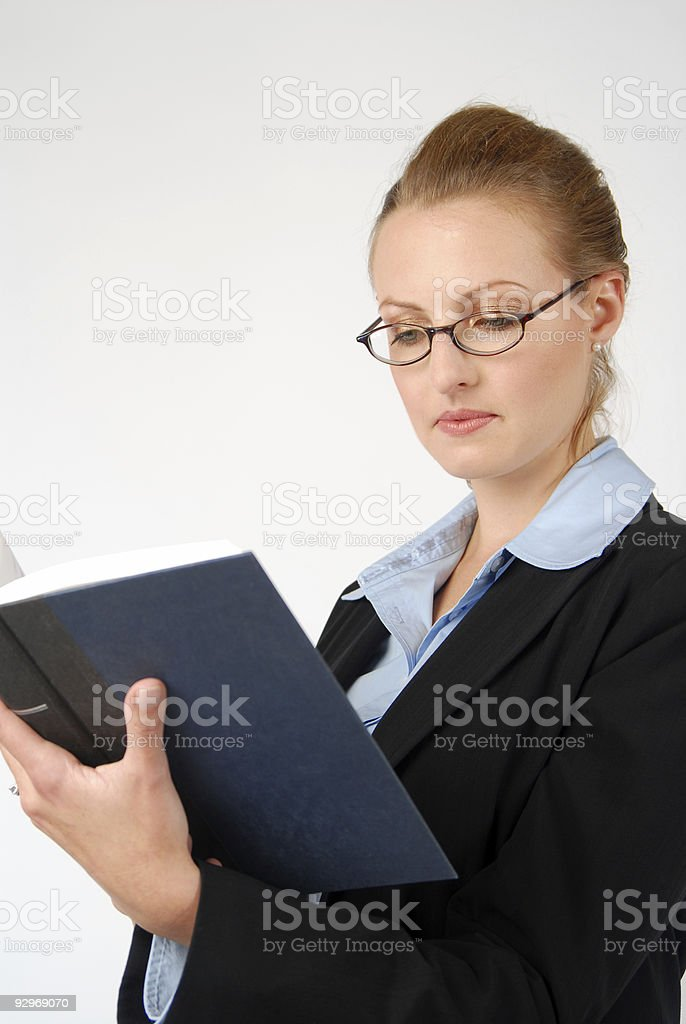 Reading Up on Business Law stock photo
