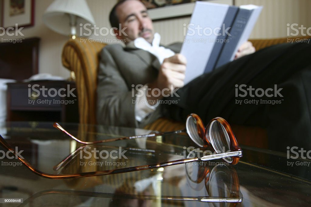 Reading up royalty-free stock photo