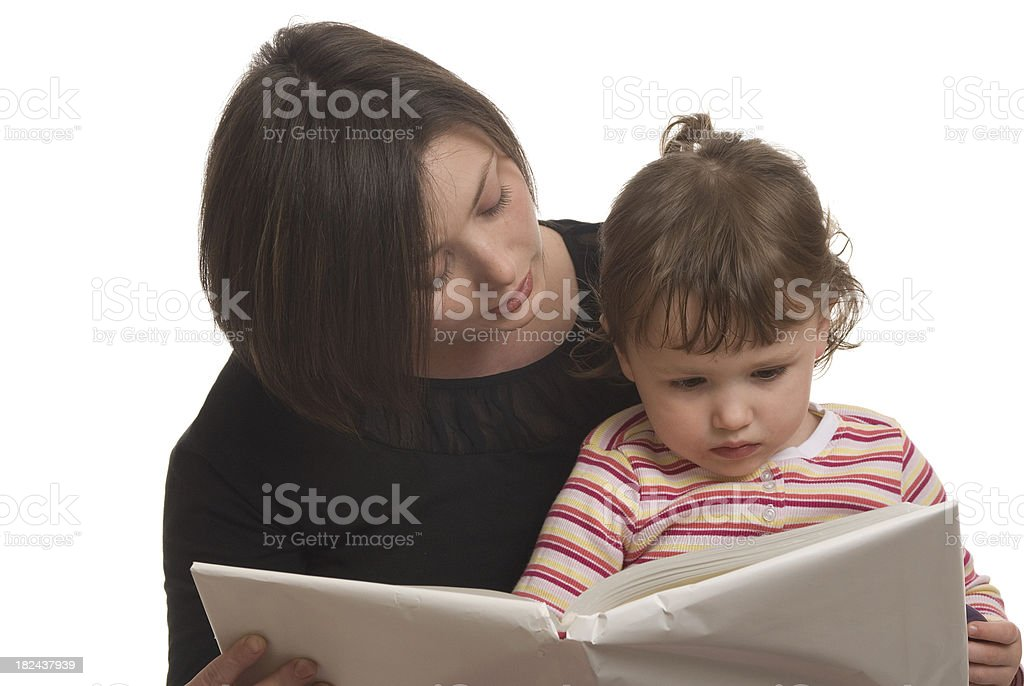 Reading With Mommy royalty-free stock photo