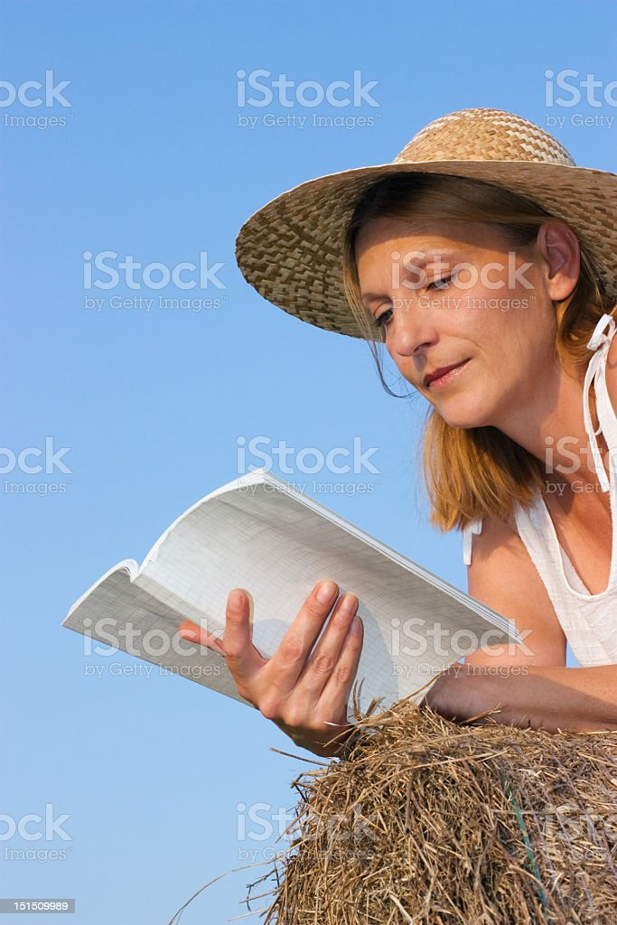 Reading woman royalty-free stock photo