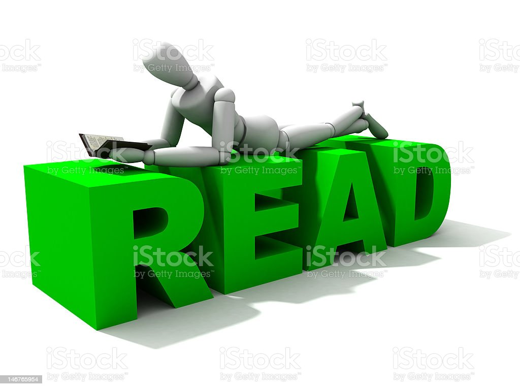 Reading XXL royalty-free stock photo