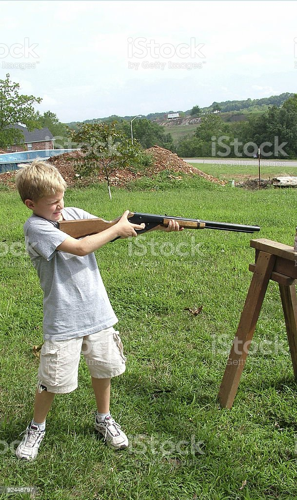 Ready, Aim, Fire royalty-free stock photo