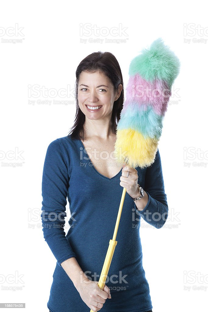 Ready for a deep dusting stock photo