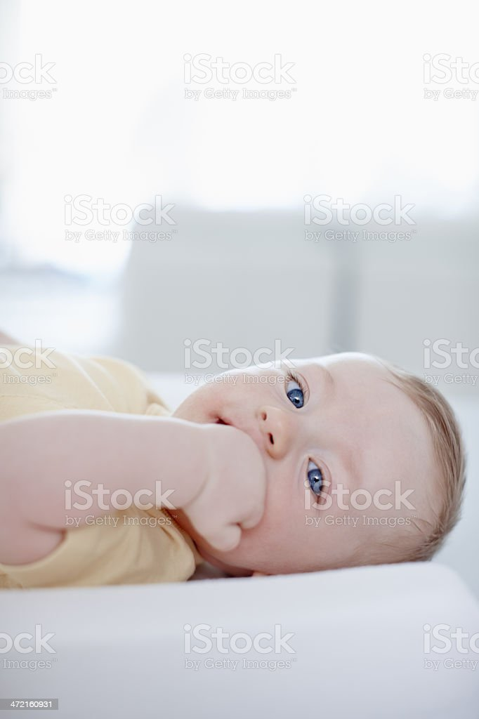 Ready for a diaper change royalty-free stock photo