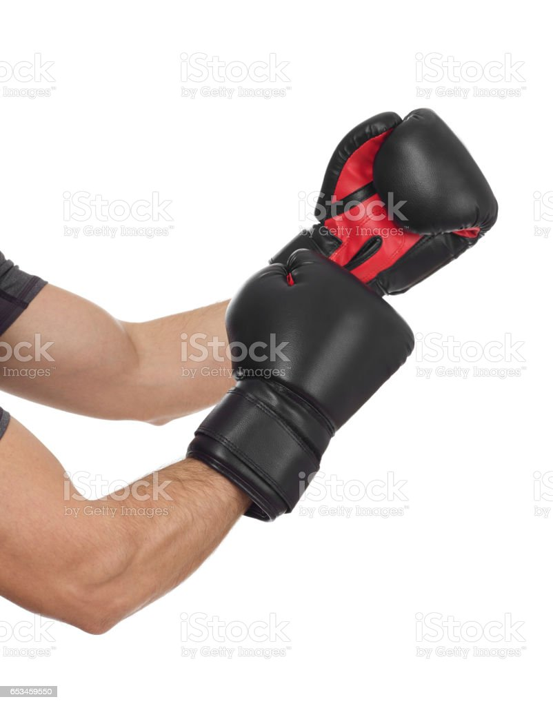 Ready for a fight stock photo