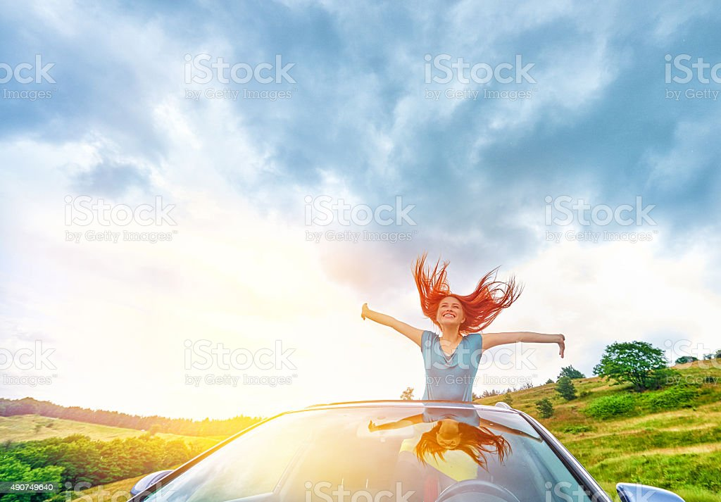 ready for a happy vacation stock photo