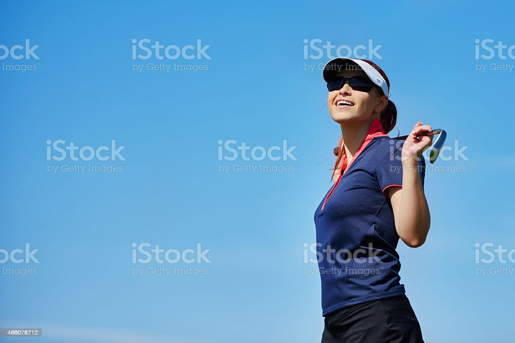 ready for a new golf game stock photo