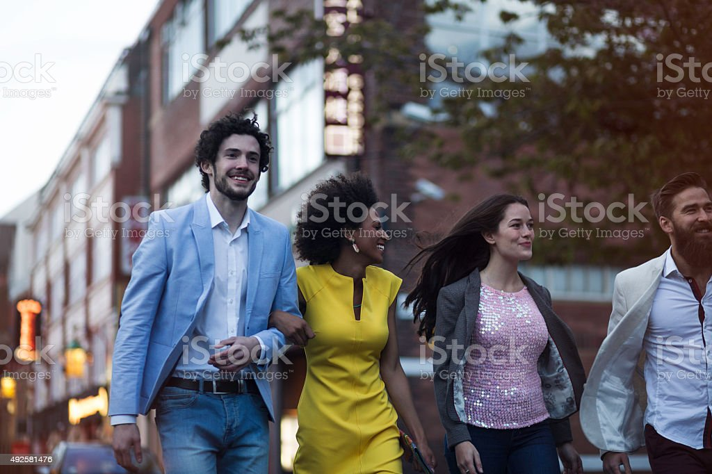 Ready for a Night Out on the Town stock photo