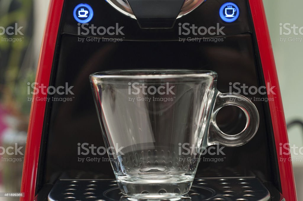 Ready for a refreshing espresso stock photo