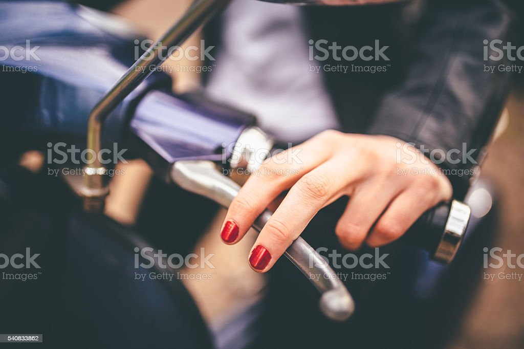 Ready for a ride! stock photo