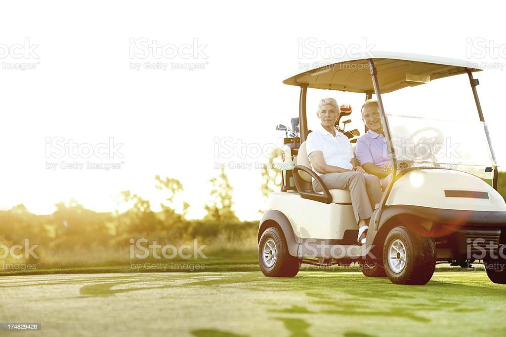 Ready for a round of golf royalty-free stock photo