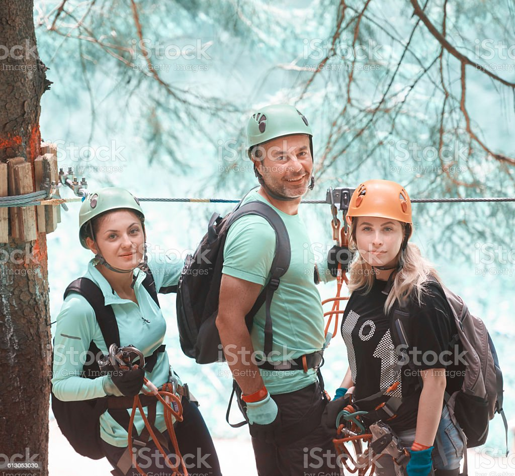 ready for adventure with my friends stock photo