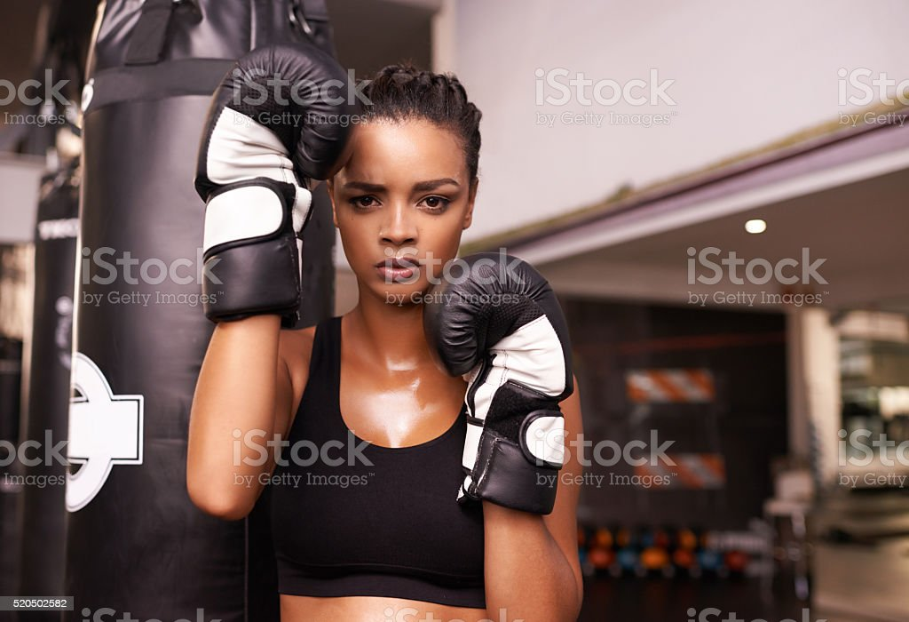 Ready for all comers! stock photo