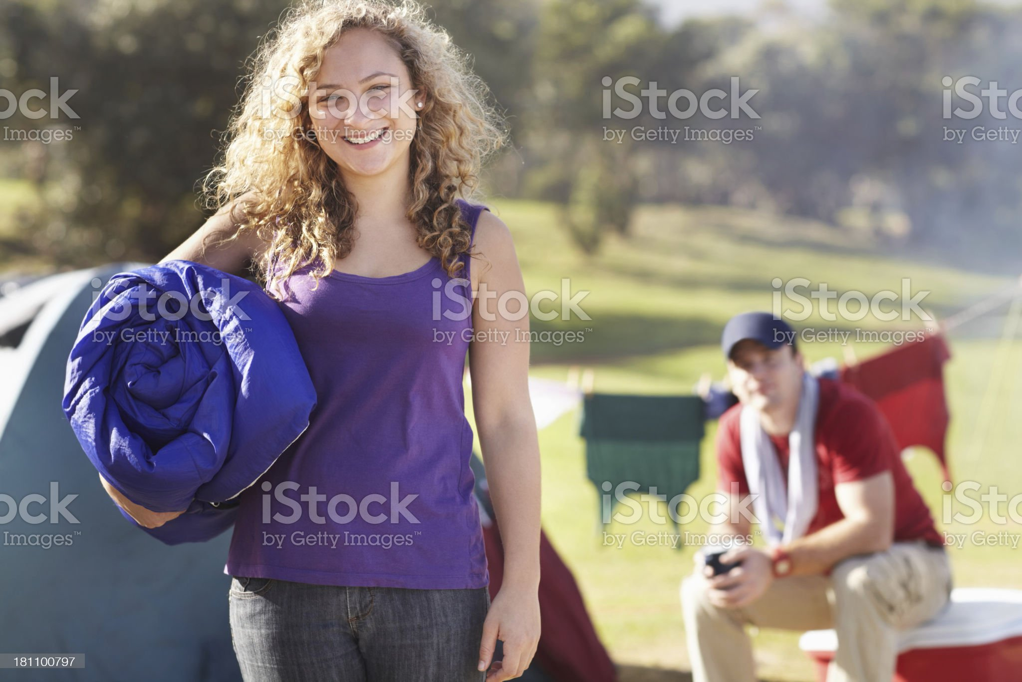 Ready for an awesome camping trip royalty-free stock photo