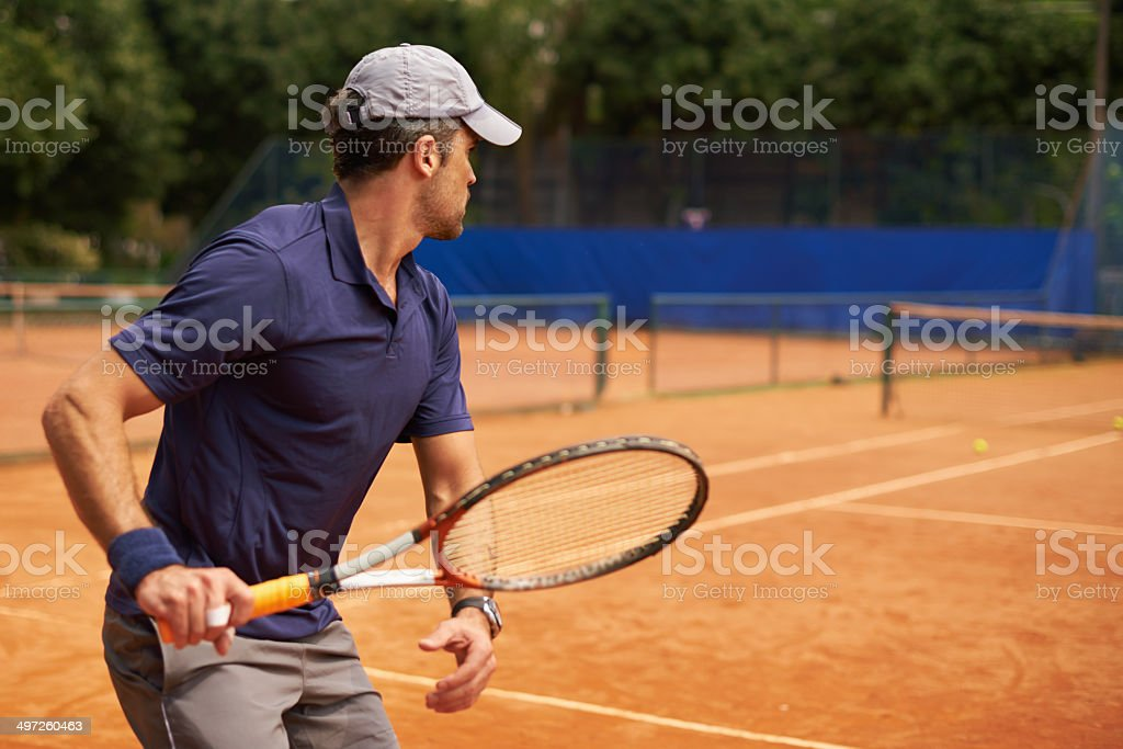 Ready for any clay court challenge stock photo