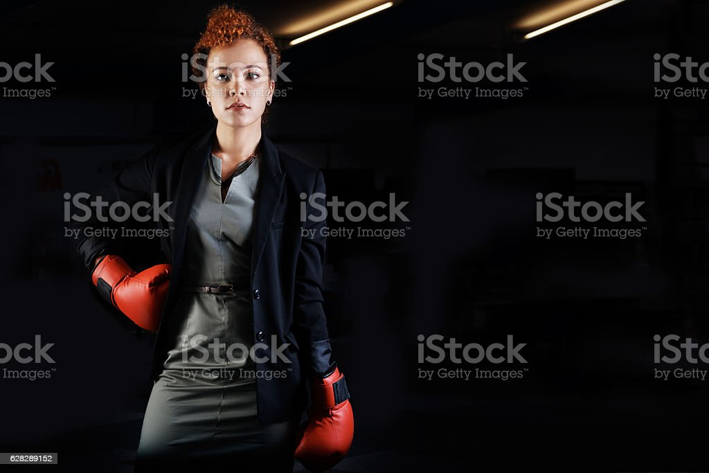 Ready for battle in the corporate world stock photo