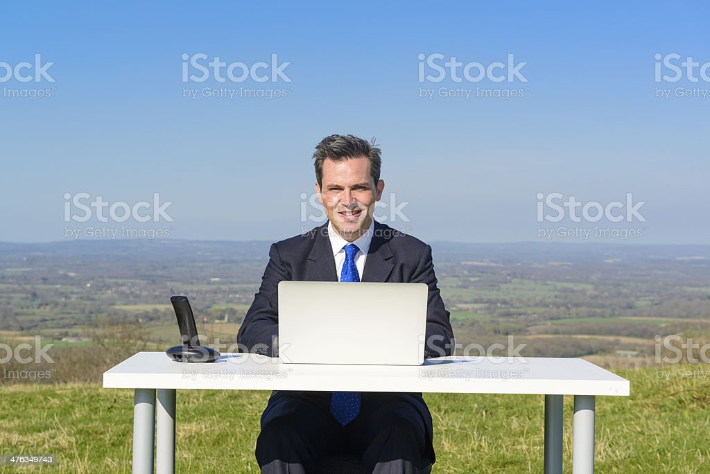 Ready For Business Wherever I Am royalty-free stock photo