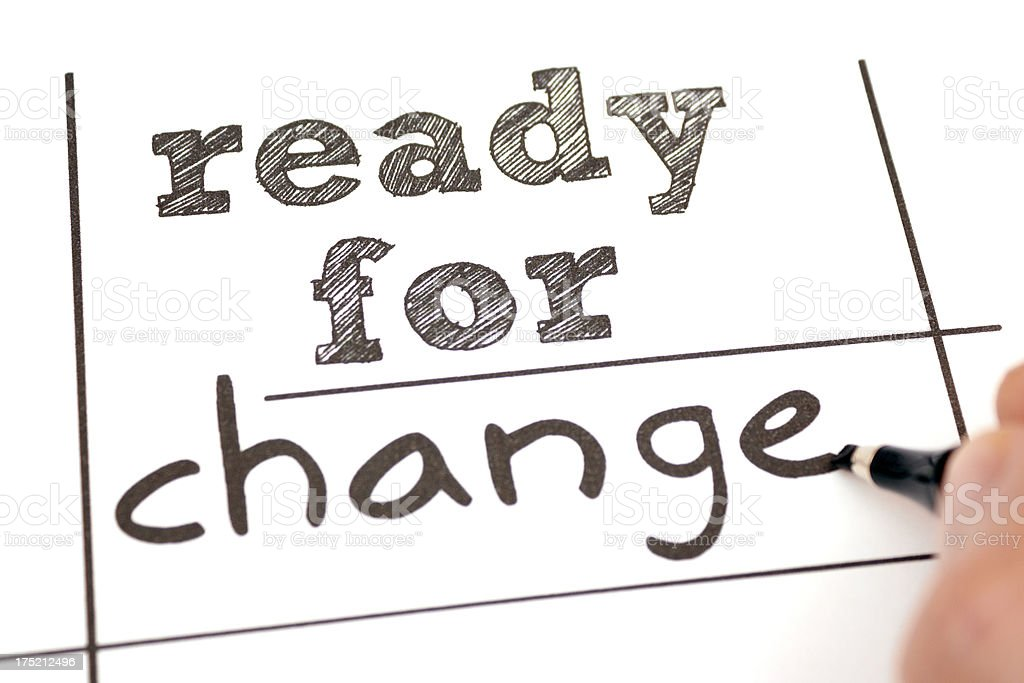 Ready for Change royalty-free stock photo