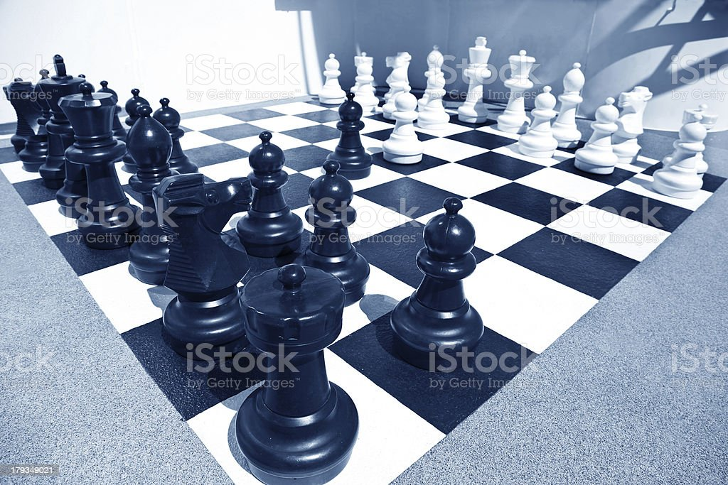 Ready for chess battle royalty-free stock photo