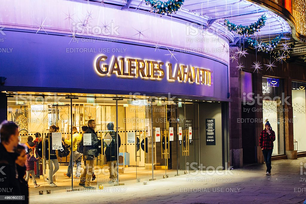 Ready for Christmas, Galeries Lafayette stock photo