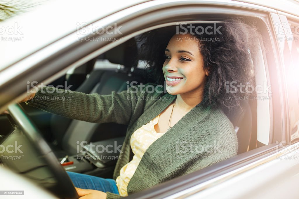Ready for driving test stock photo