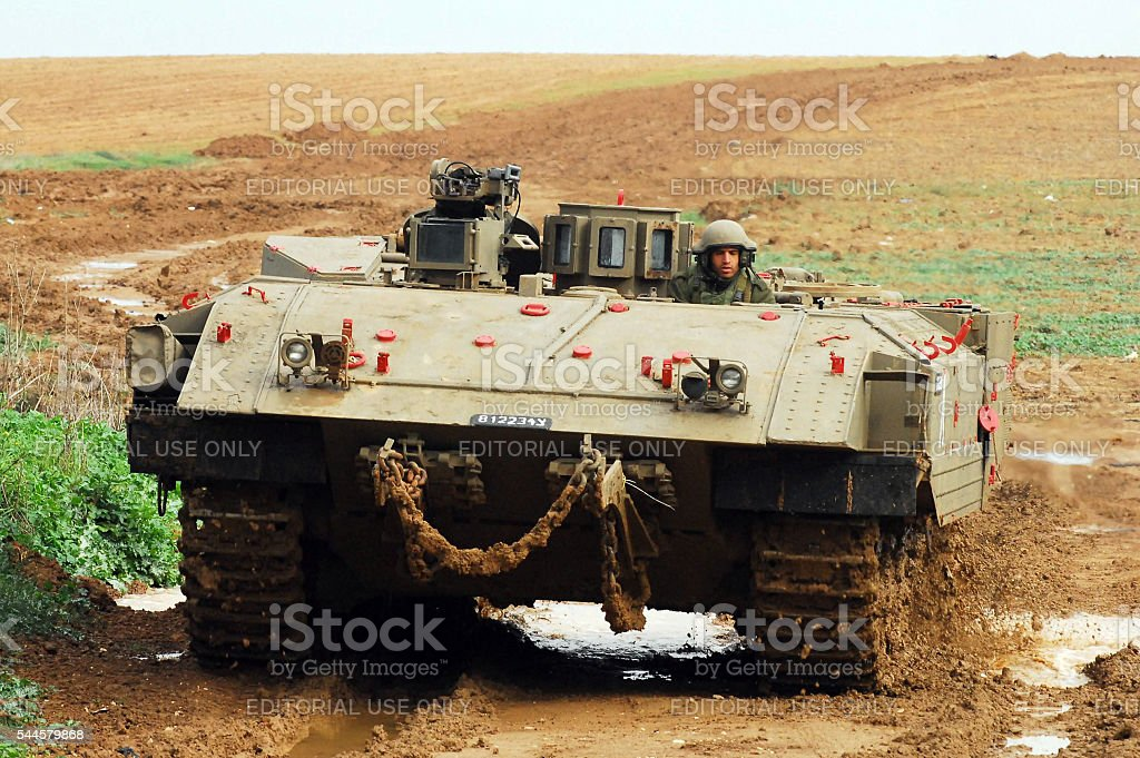 IDF Ready for Ground Incursion in Gaza Strip stock photo